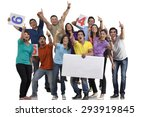 boys and girls cheering | Shutterstock . vector #293919845
