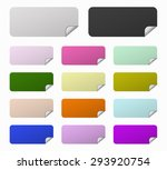 set rectangles colored labels | Shutterstock .eps vector #293920754