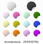 set circles colored labels | Shutterstock .eps vector #293920781