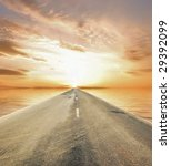 road through water to sun 2 | Shutterstock . vector #29392099