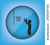 player ball basket | Shutterstock .eps vector #293929754