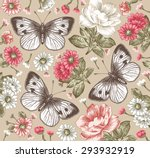 butterflies  moths. beautiful... | Shutterstock .eps vector #293932919