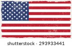 grunge usa flag.american flag... | Shutterstock .eps vector #293933441