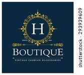 h letter logo  monogram design... | Shutterstock .eps vector #293939609