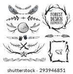 set of hand drawn tribal frames ... | Shutterstock .eps vector #293946851