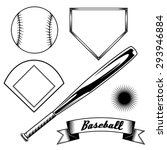 baseball icons | Shutterstock .eps vector #293946884
