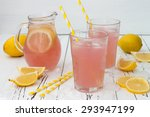 refreshing homemade pink... | Shutterstock . vector #293947199