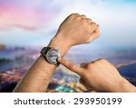 wristband  watch  silicone. | Shutterstock . vector #293950199
