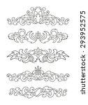 vector set of ornaments  design ...   Shutterstock .eps vector #293952575