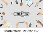 vector litigation concept... | Shutterstock .eps vector #293954417