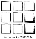 collection of grunge borders | Shutterstock .eps vector #293958254