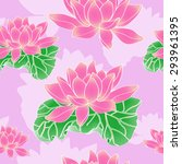 beautiful background on a pink... | Shutterstock .eps vector #293961395