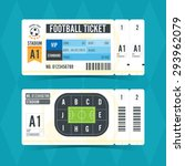 football ticket modern design.... | Shutterstock .eps vector #293962079