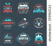 summer holidays design elements.... | Shutterstock .eps vector #293963111