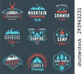 summer holidays design elements.... | Shutterstock .eps vector #293963231