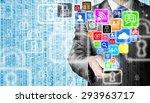 business man using smart phone... | Shutterstock . vector #293963717