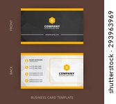 Creative and Clean Vector Business Card Template | Shutterstock vector #293963969