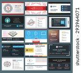 set of modern creative business ... | Shutterstock .eps vector #293964071