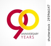 90 th anniversary numbers. 90s... | Shutterstock .eps vector #293966147
