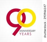 90 years old celebrating... | Shutterstock .eps vector #293966147