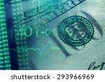 finance data and one hundred... | Shutterstock . vector #293966969