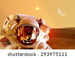 Astronaut Spaceman Helmet Space Planet - Fine Art prints