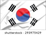 south korea flag on soft and... | Shutterstock . vector #293975429