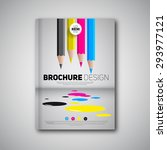 brochure design template cover... | Shutterstock .eps vector #293977121