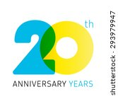 20 years old celebrating... | Shutterstock .eps vector #293979947