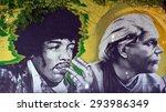 Постер, плакат: Mural of Jimi Hendrix