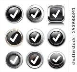 check mark button | Shutterstock .eps vector #293988341