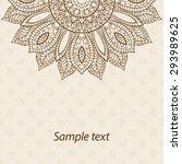 card  invitation or menu in... | Shutterstock .eps vector #293989625
