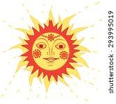 traditional russian sun | Shutterstock .eps vector #293995019
