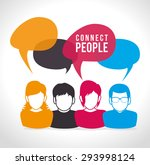 people digital design  vector... | Shutterstock .eps vector #293998124