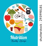 nutrition design  vector