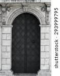 Old Church Textured Door With...