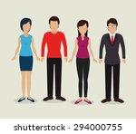 people digital design  vector... | Shutterstock .eps vector #294000755