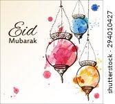 eid mubarak background. eid... | Shutterstock .eps vector #294010427