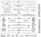 doodles swirling border text...   Shutterstock .eps vector #294013547