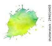 abstract hand drawn watercolor... | Shutterstock . vector #294014405