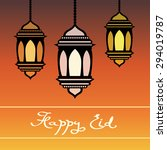 happy eid greeting card.... | Shutterstock .eps vector #294019787