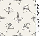 crossbow doodle seamless... | Shutterstock . vector #294022745
