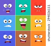 Cartoon Faces With Emotions V.10