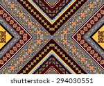 geometric ethnic pattern design ... | Shutterstock .eps vector #294030551
