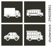 transport  digital design ... | Shutterstock .eps vector #294035801