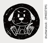 chinese zodiac dog doodle...   Shutterstock . vector #294037391