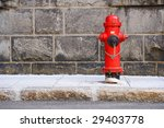 Typical Red Fire Hydrant....