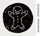 gingerbread man doodle | Shutterstock . vector #294039131