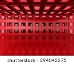 Abstract Red Modern Interior...