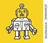 robot doodle | Shutterstock . vector #294043925